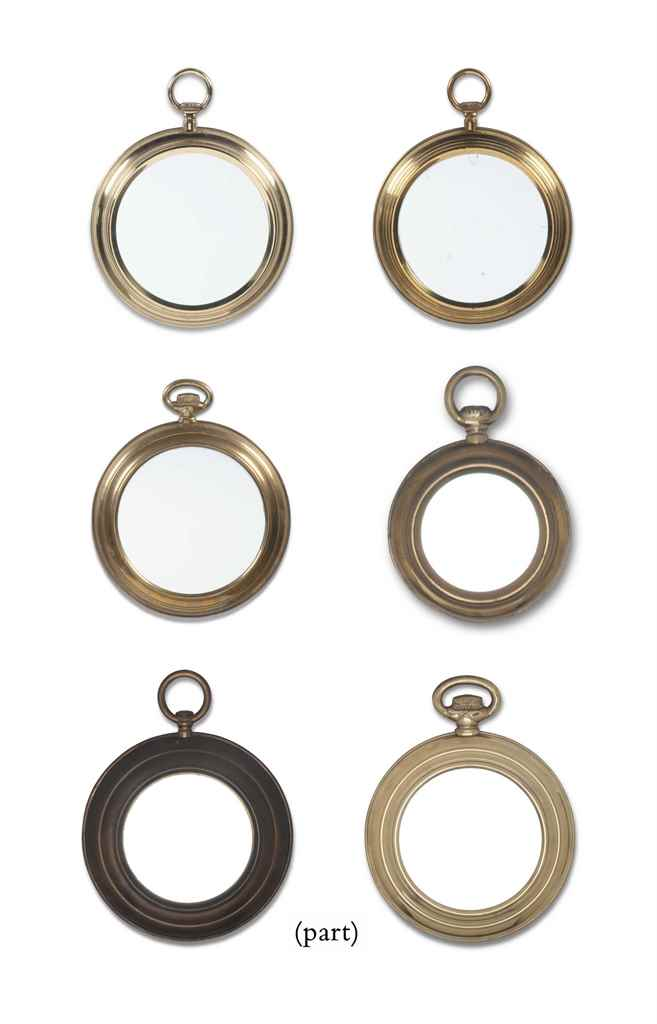 FIFTEEN NOVELTY BRASS MIRRORS