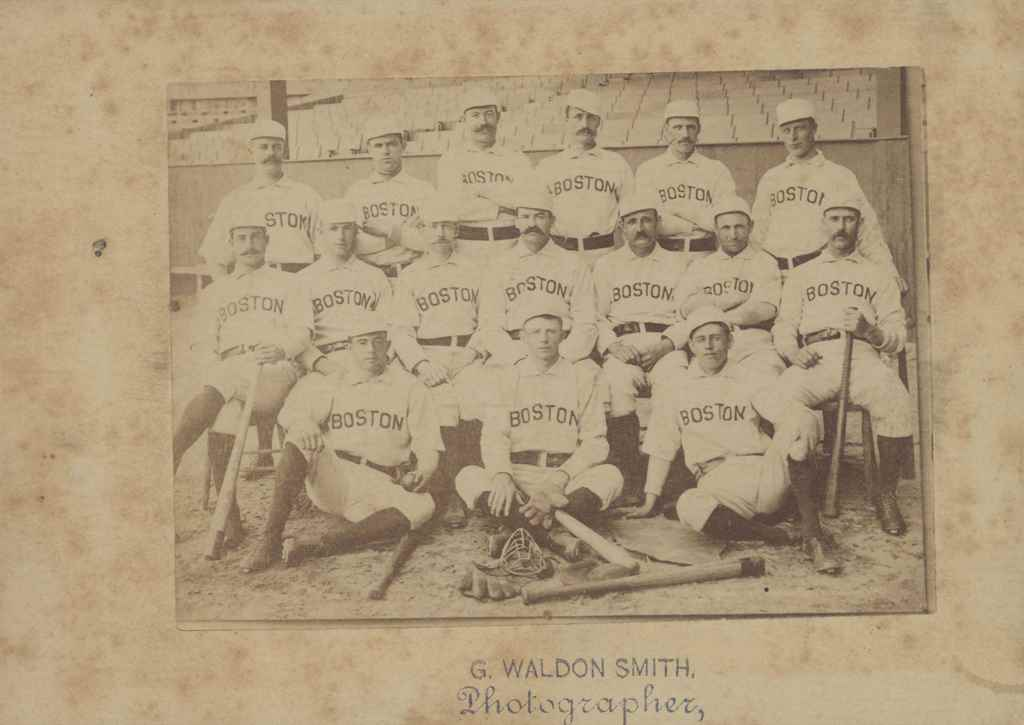 1890 BOSTON REDS TEAM CABINET