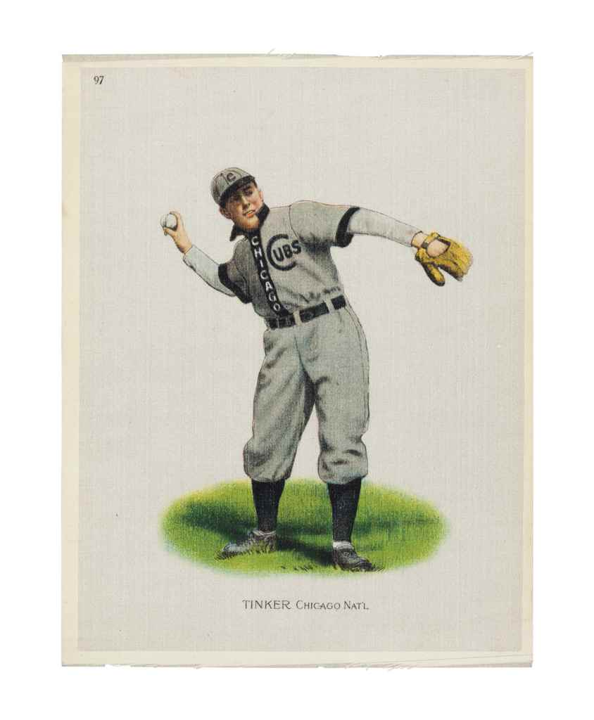 1910 JOE TINKER SILK TOBACCO P