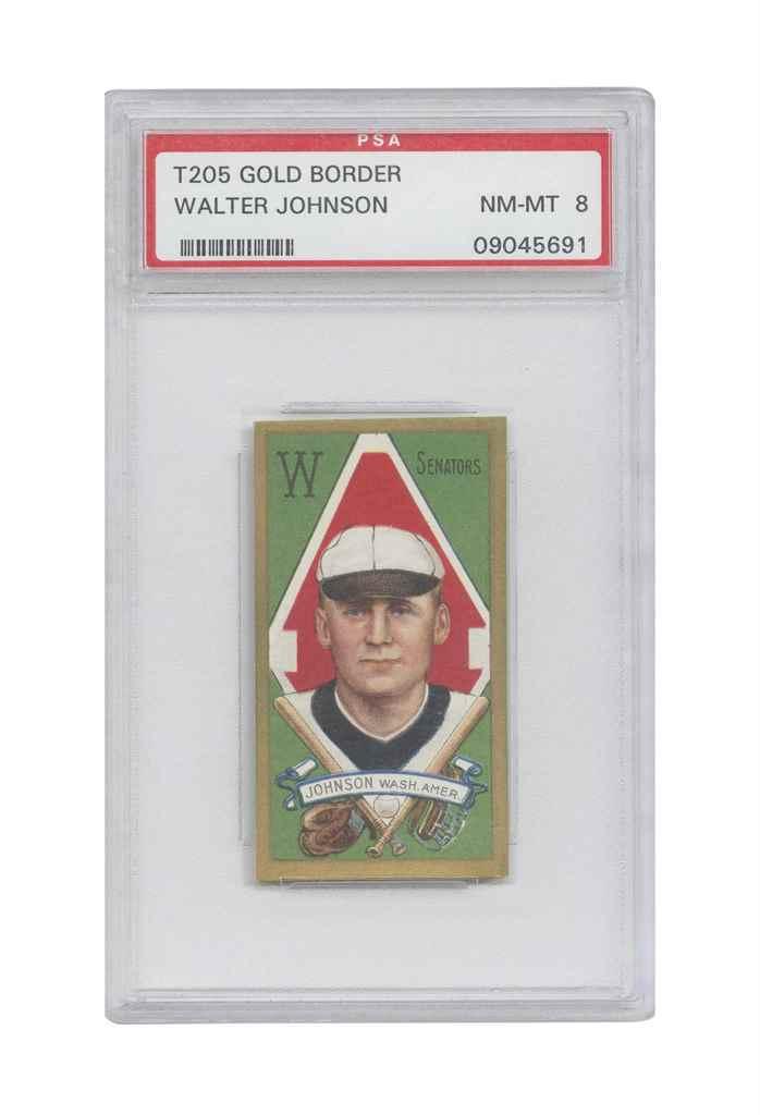 1911 T205 GOLD BORDER WALTER J