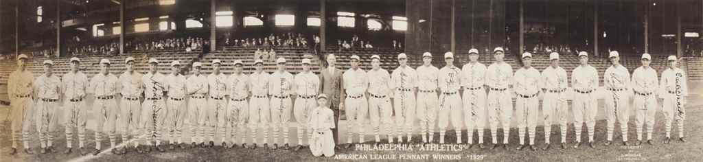 1929 PHILADELPHIA ATHLETICS SI