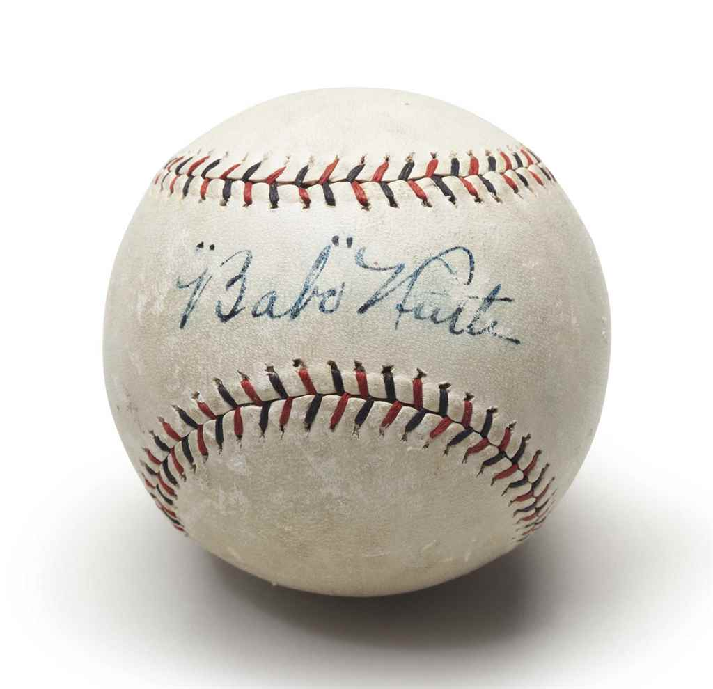 BABE RUTH SINGLE SIGNED BASEBA