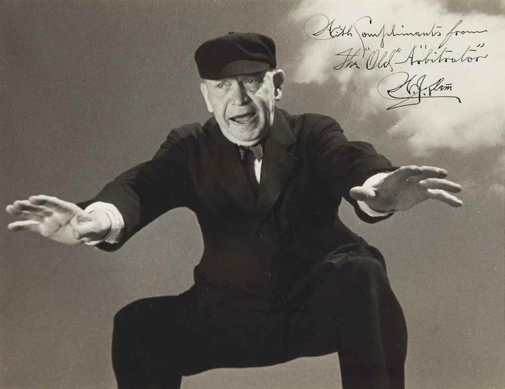 BILL KLEM SIGNED PHOTOGRAPH