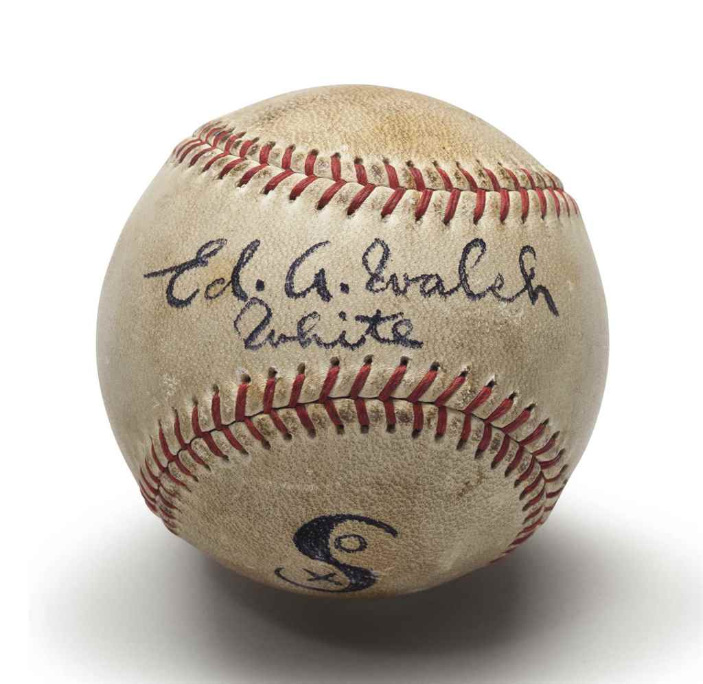 ED WALSH SINGLE SIGNED BASEBAL