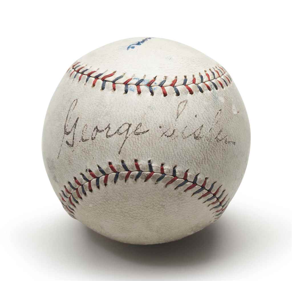 GEORGE SISLER SINGLE SIGNED BA