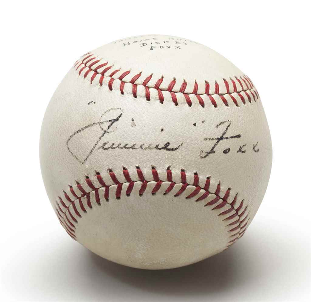 JIMMIE FOXX SINGLE SIGNED BASE