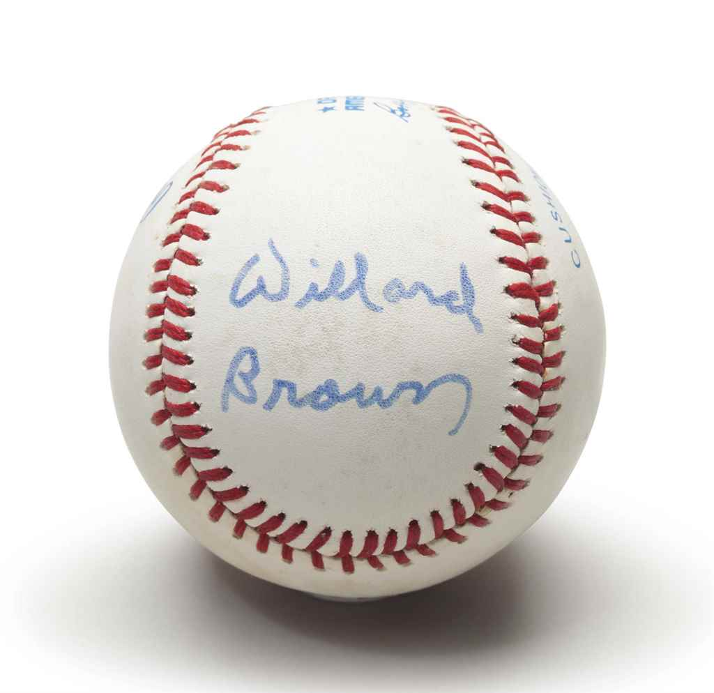 WILLARD BROWN SINGLE SIGNED BA