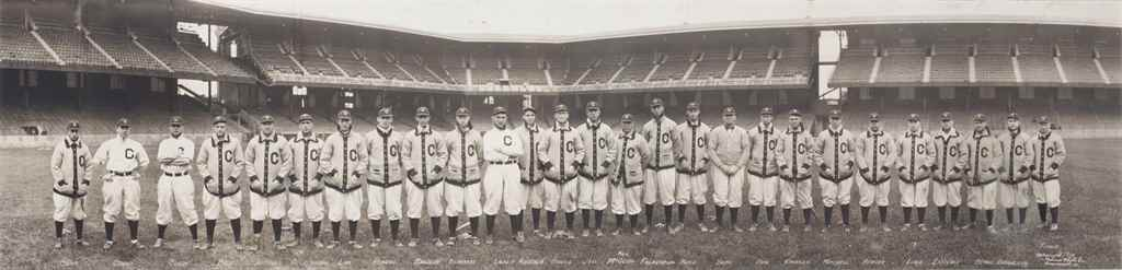 1910 CLEVELAND NAPS TEAM PANOR