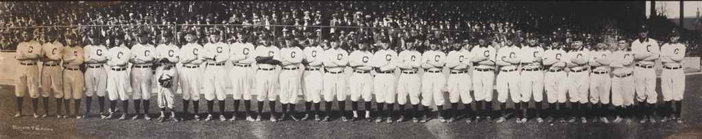 1912 CLEVELAND NAPS TEAM PANOR