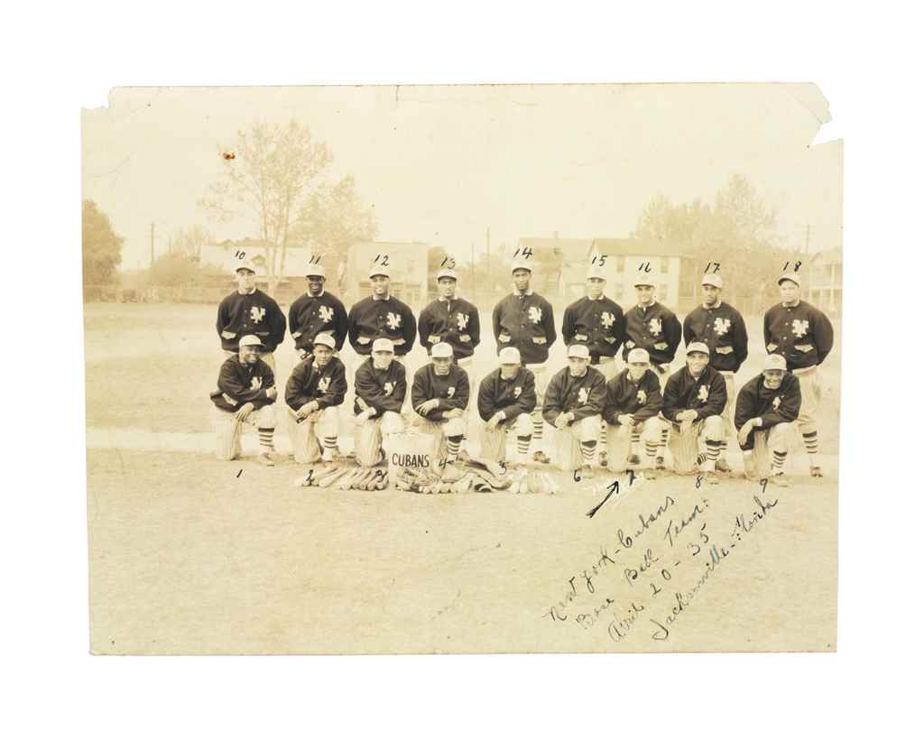 1935 NEW YORK CUBANS TEAM PHOT