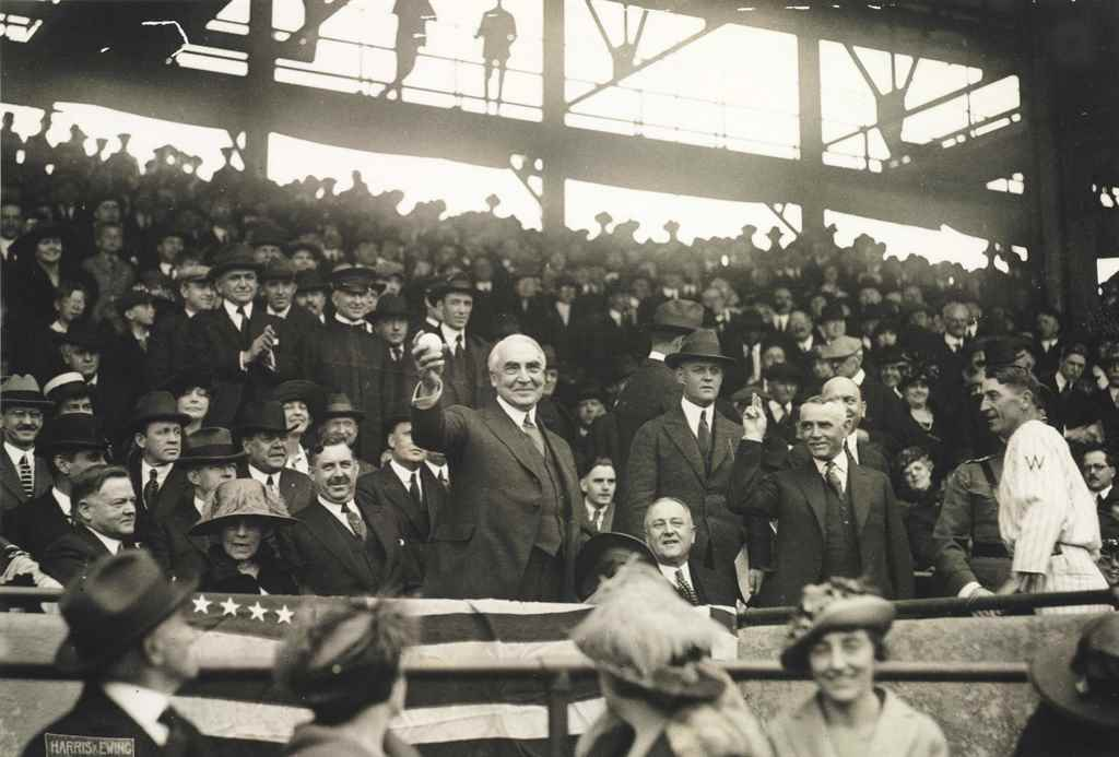 WARREN HARDING FIRST PITCH PHO