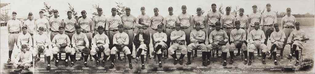 1928 NEW YORK YANKEES TEAM PAN
