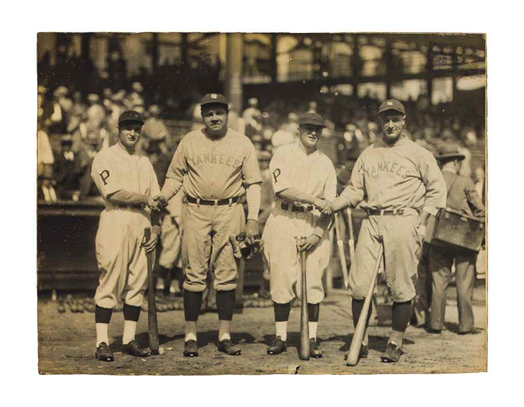 BABE RUTH, LOU GEHRIG & WANER