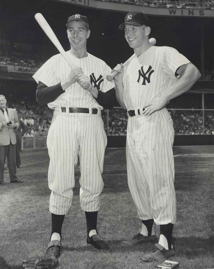 JOE DIMAGGIO & MICKEY MANTLE P
