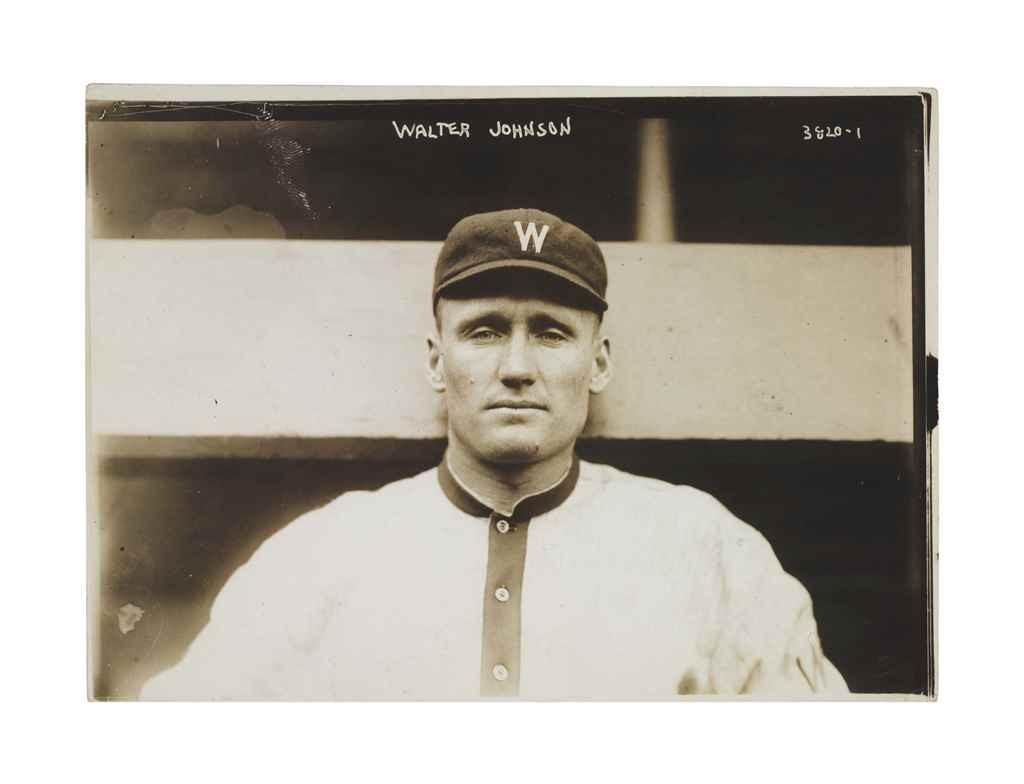 WALTER JOHNSON PHOTOGRAPH