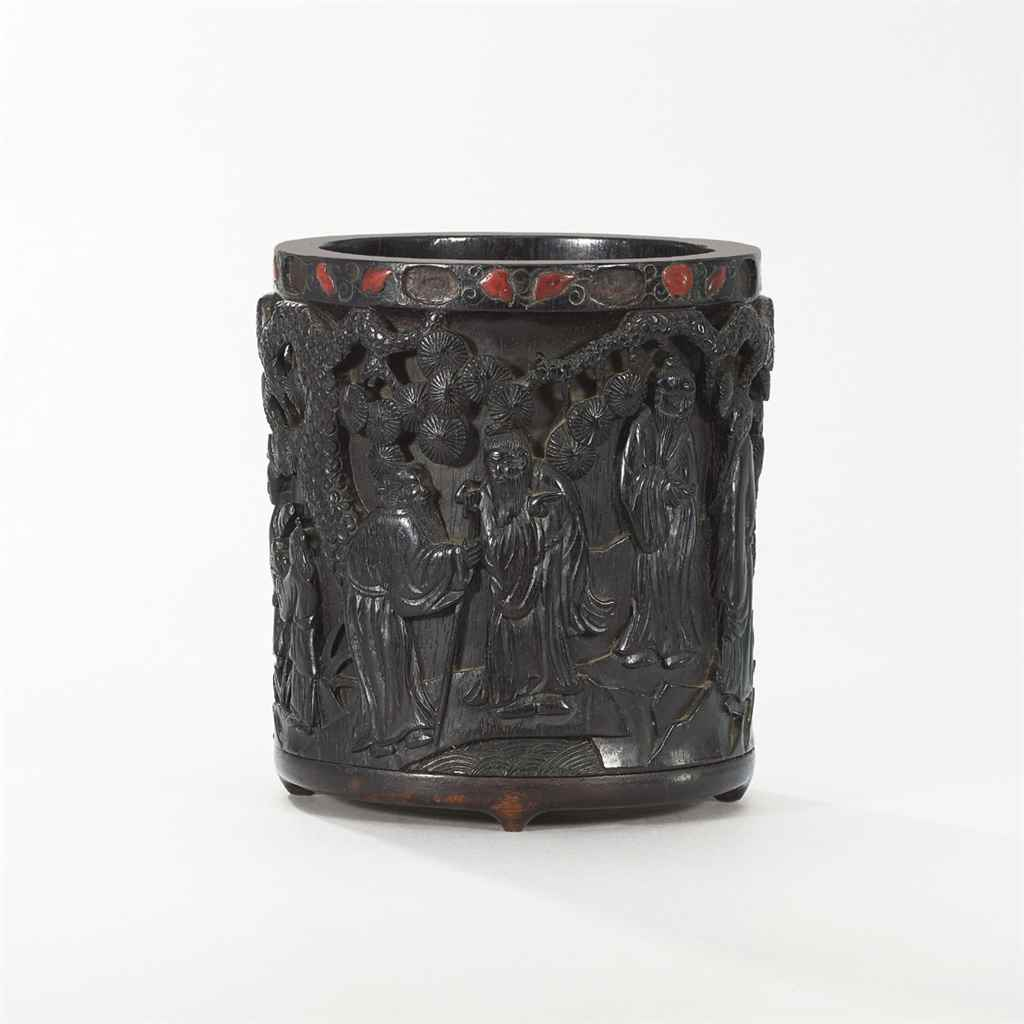 A SILVER AND STONE-INLAID ZITA