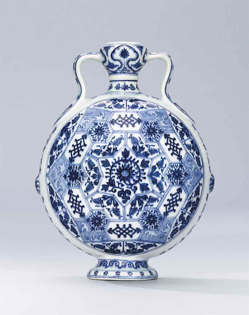A BLUE AND WHITE MING-STYLE MO