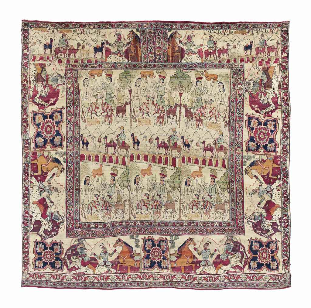 A KIRMAN PICTORIAL CARPET