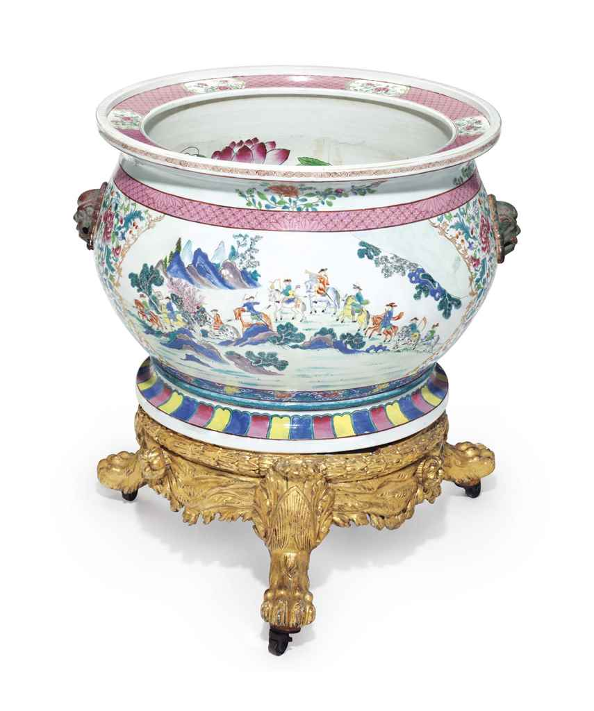 A CHINESE EXPORT FISHBOWL, AND