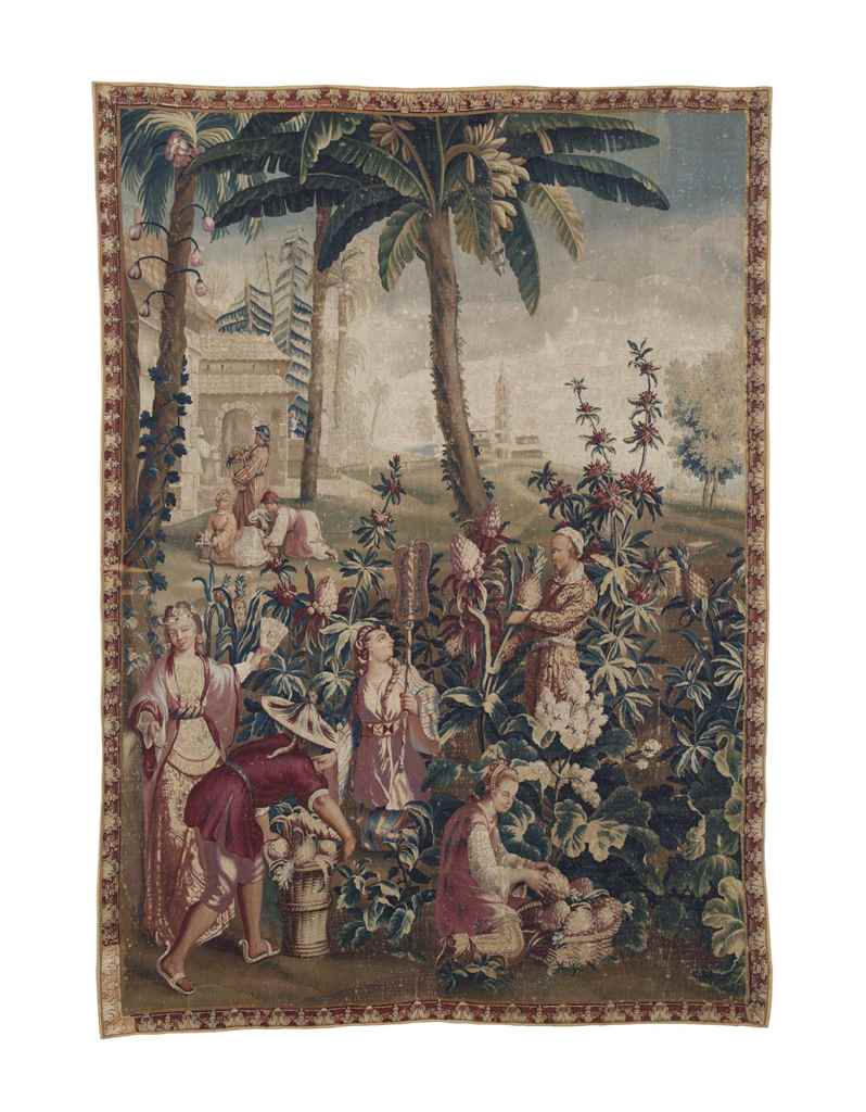 A LOUIS XV BEAUVAIS TAPESTRY