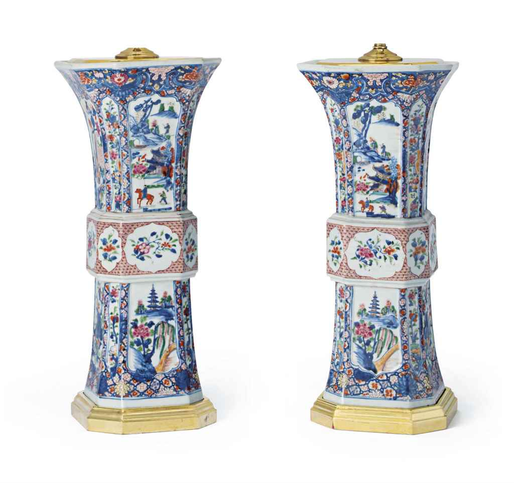 A PAIR OF GILT-WOOD AND GILT-M