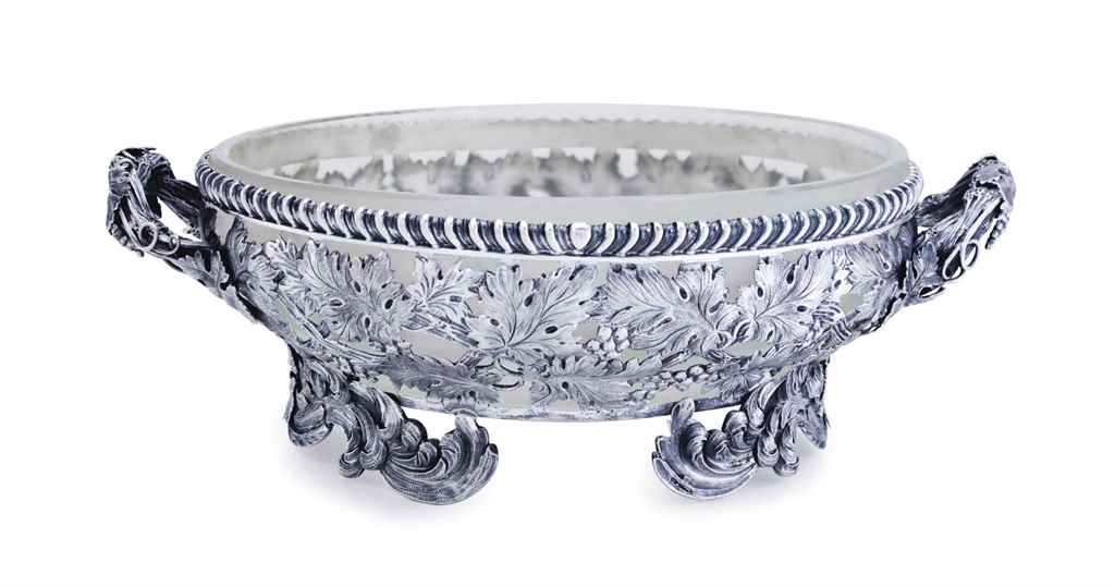A GEORGE IV SILVER FRUIT-BOWL