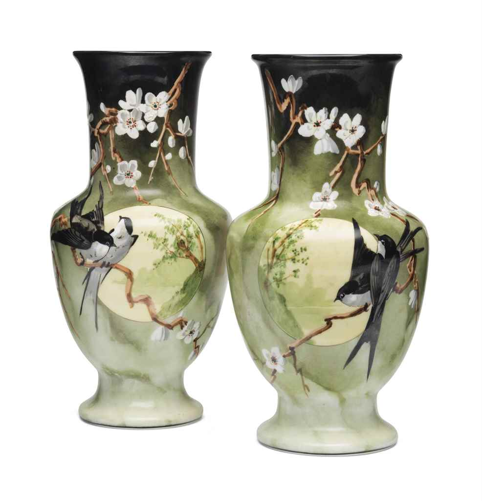 A PAIR OF FRENCH JAPONISME PAI