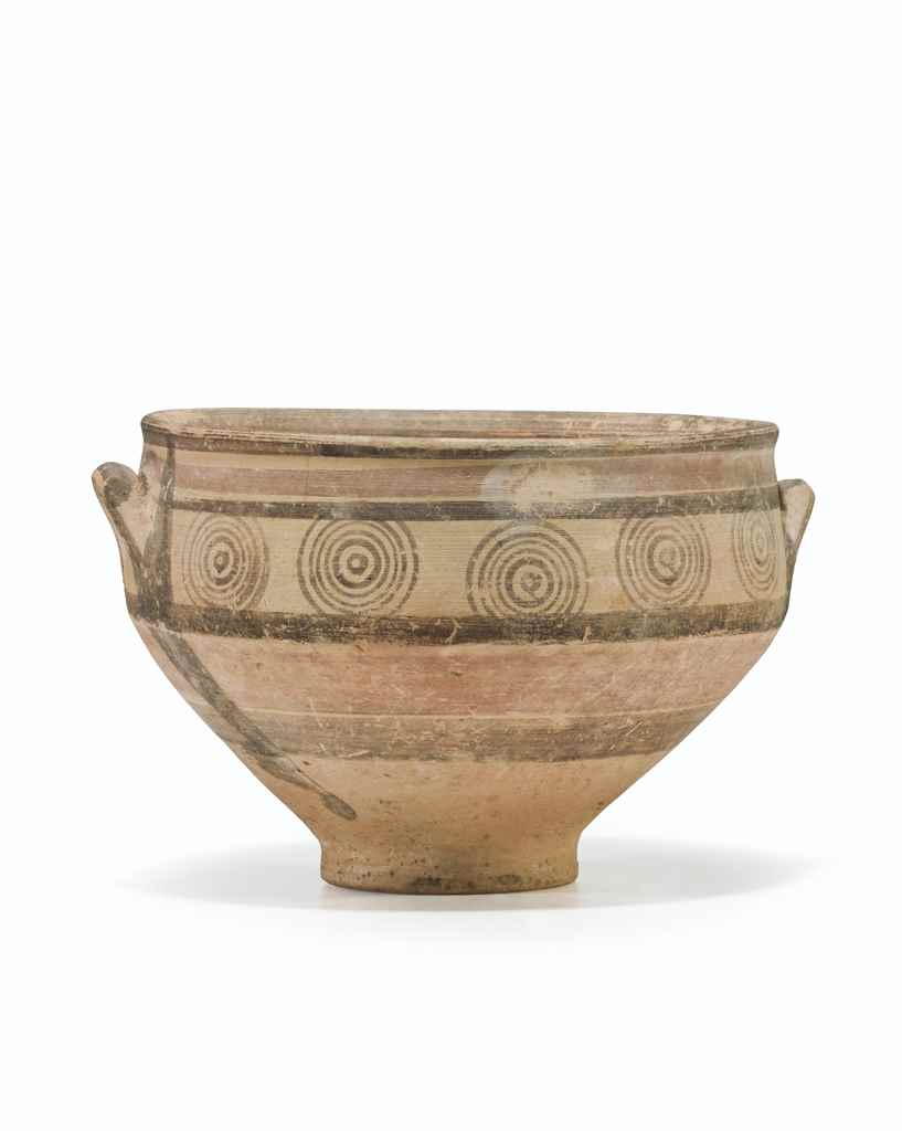 A CYPRIOT PAINTED POTTERY BOWL