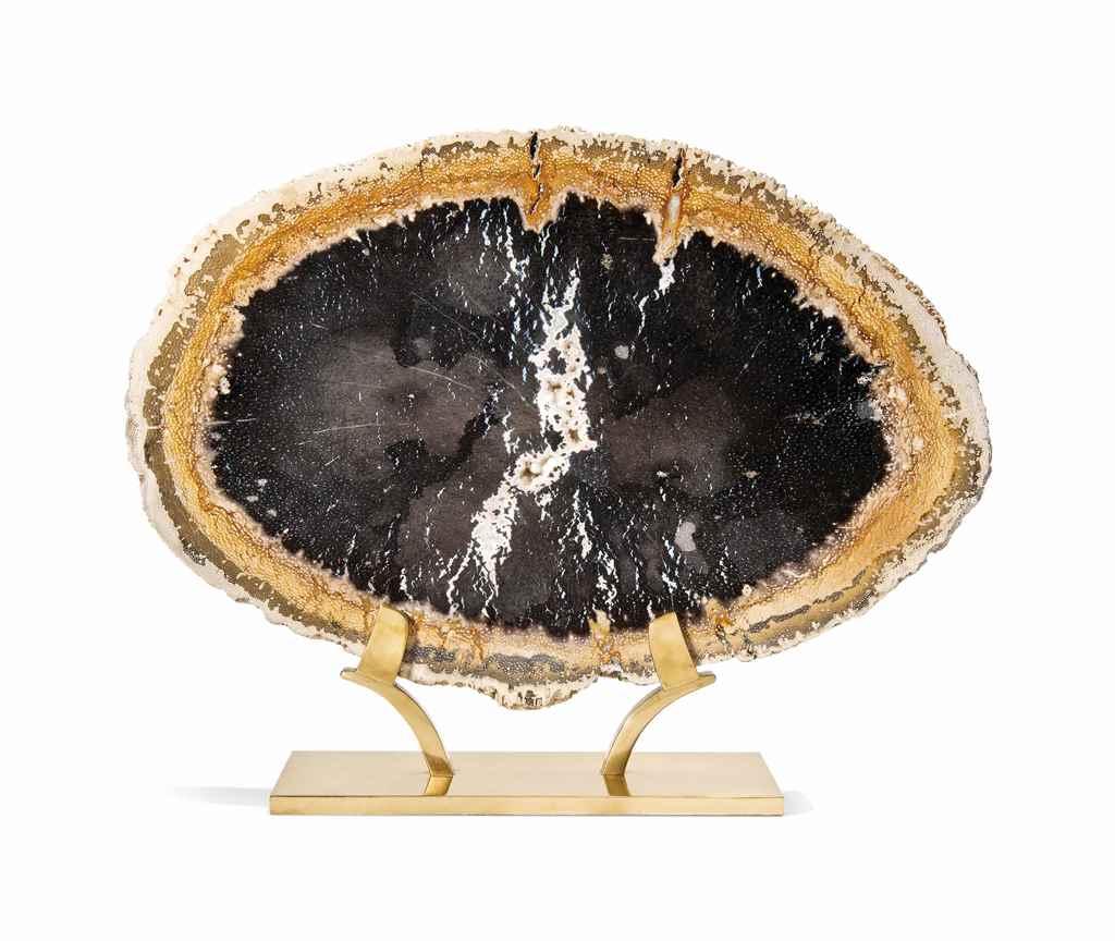 A SLICE OF PETRIFIED PALM WOOD