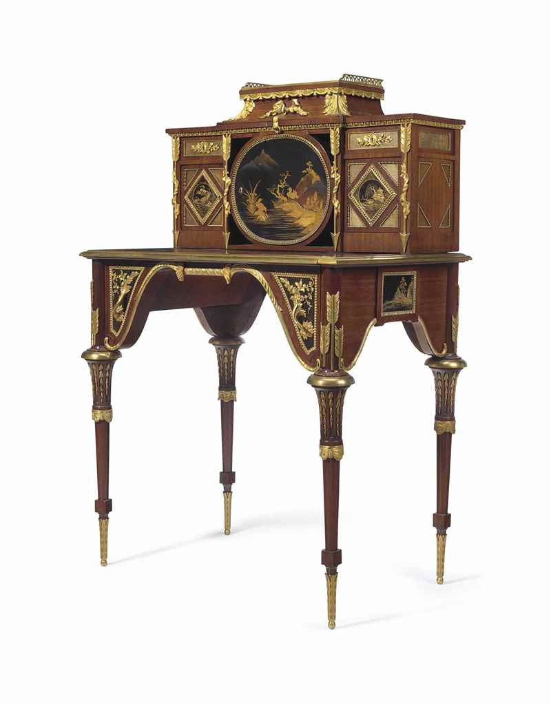 A FRENCH ORMOLU AND JAPANESE L