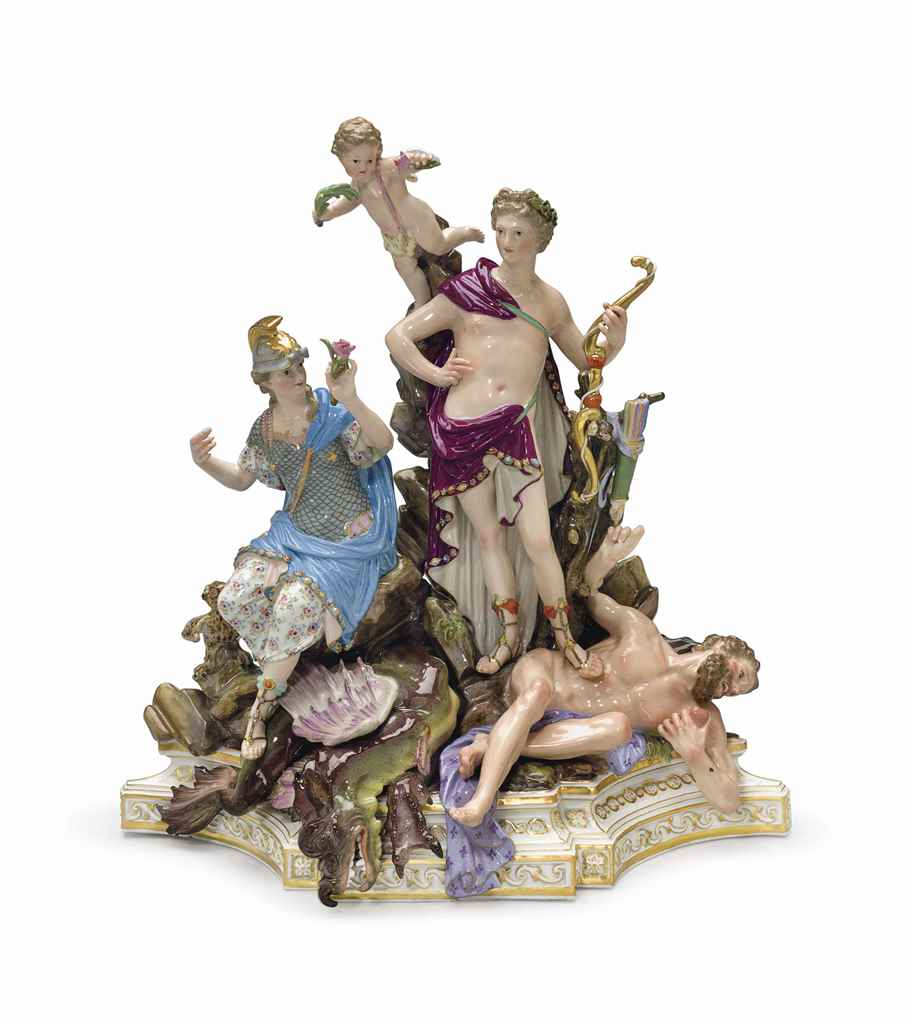 A MEISSEN PORCELAIN MYTHOLOGIC