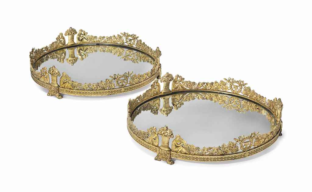 A PAIR OF FRENCH ORMOLU CIRCUL