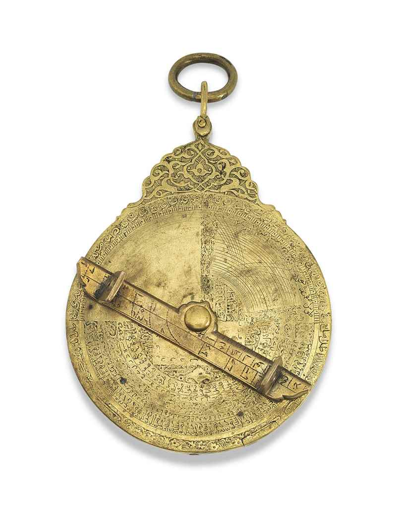 A SAFAVID BRASS ASTROLABE