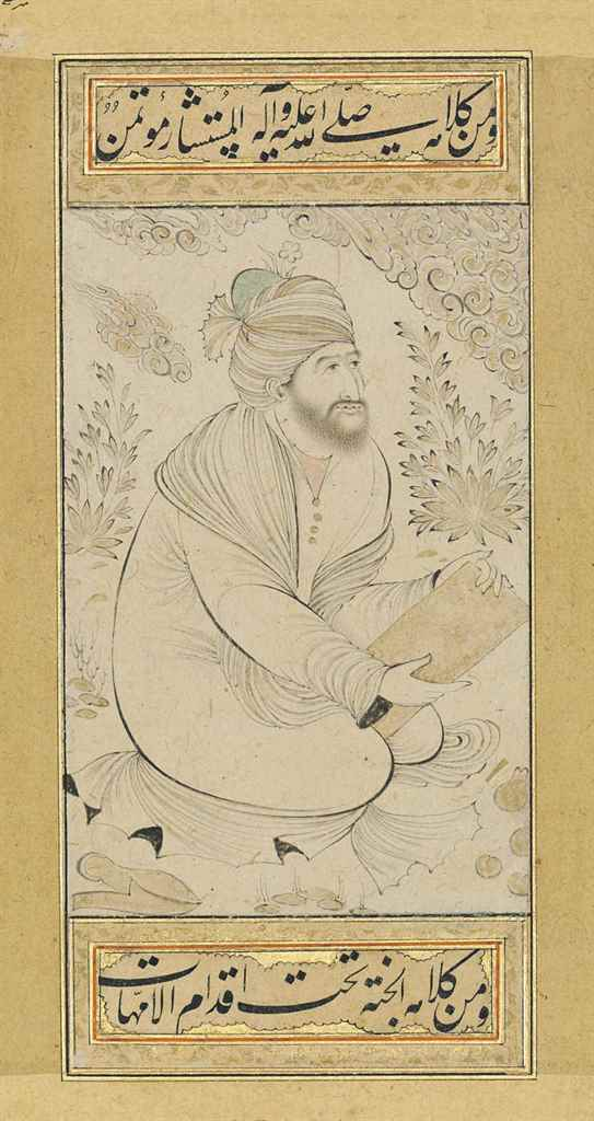 A SEATED SHAYKH