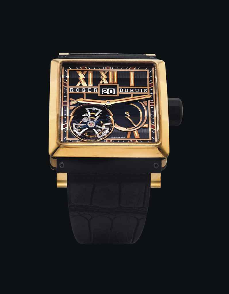 ROGER DUBUIS. AN 18K PINK GOLD