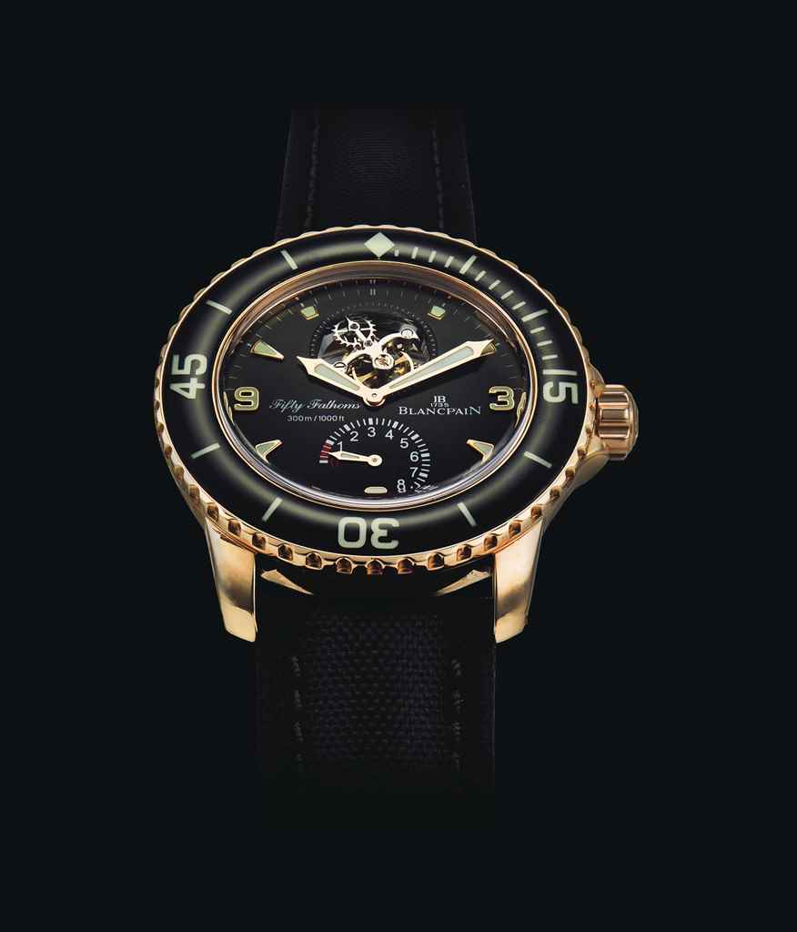 BLANCPAIN. AN 18K PINK GOLD TO