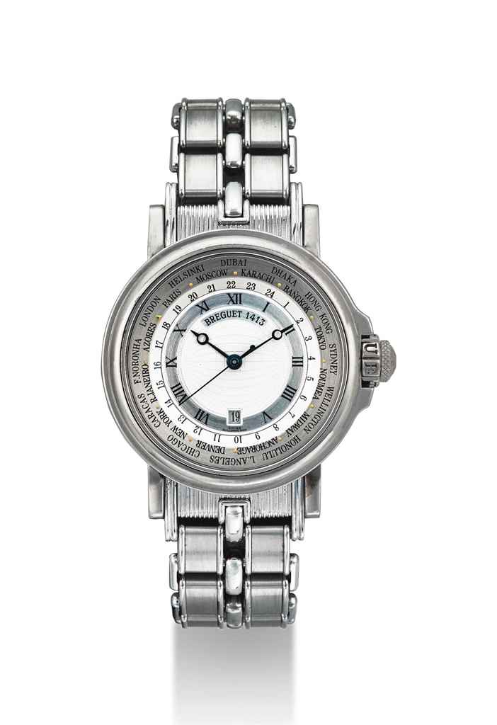 BREGUET. AN 18K WHITE GOLD AUT