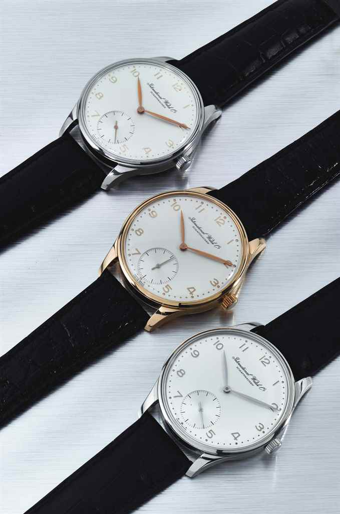 IWC. A SET OF THREE LIMITED ED