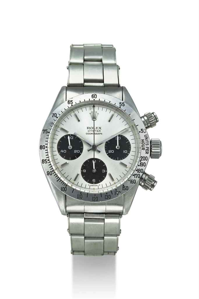 ROLEX. A STAINLESS STEEL CHRON