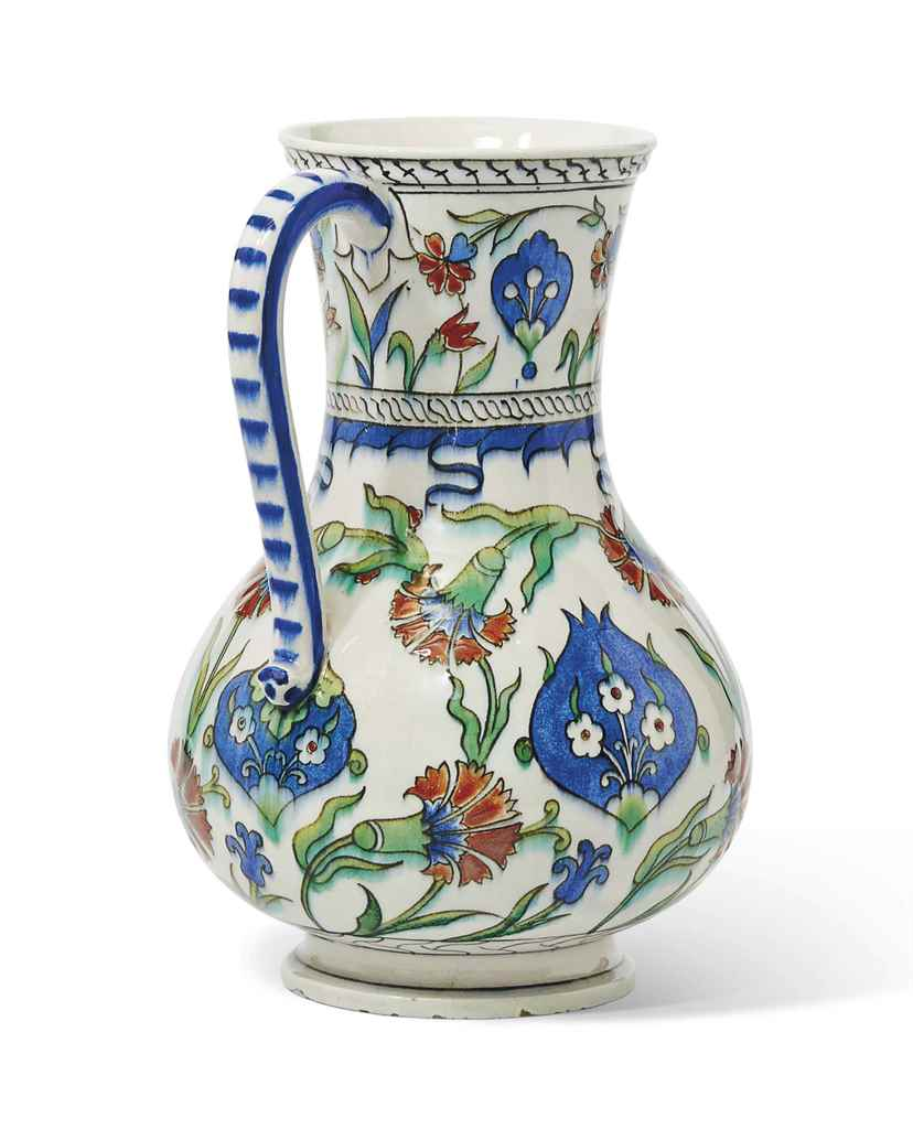 A RARE DATED IZNIK STYLE POTTE