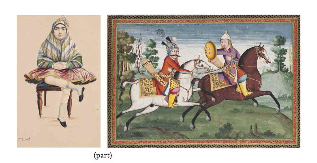 FIVE QAJAR PAINTINGS