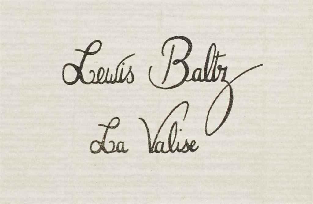 LEWIS BALTZ (NÉ EN 1945)