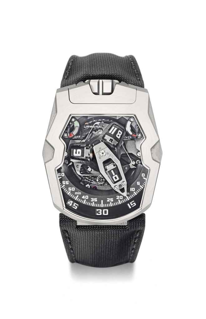 Urwerk. A rare, large and unus