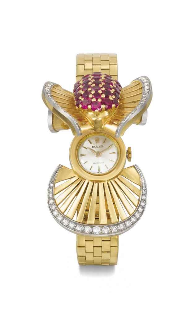 Rolex. A fine, rare and unusua