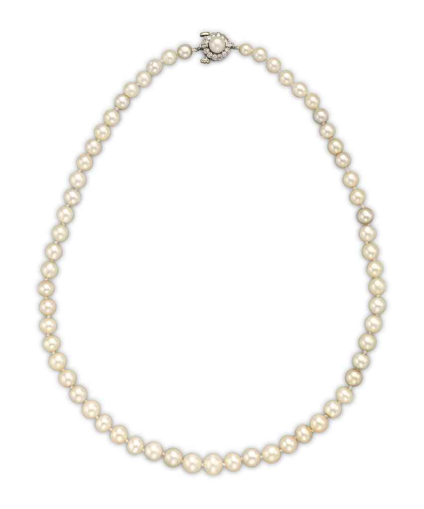 A SINGLE-STRAND NATURAL PEARL