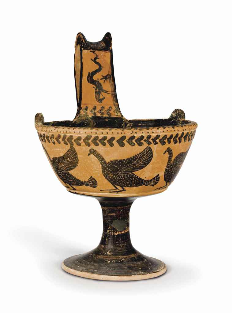 AN ETRUSCAN BLACK-FIGURED KYAT