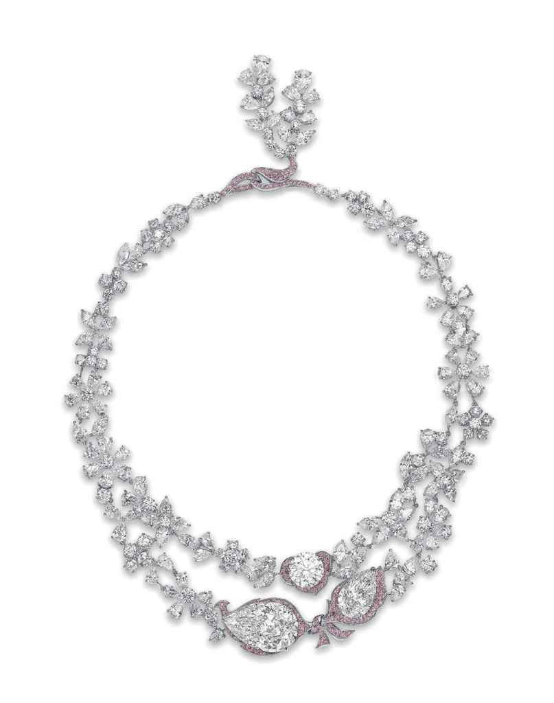 Le jardin d 39 isabelle an exquisite diamond and coloured for Jardin necklace