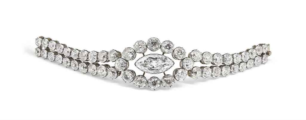 A DIAMOND BRACELET, MOUNTED BY