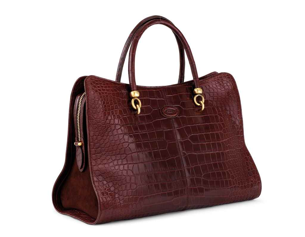SAC STELLA ALLIGATOR LISSE BOR