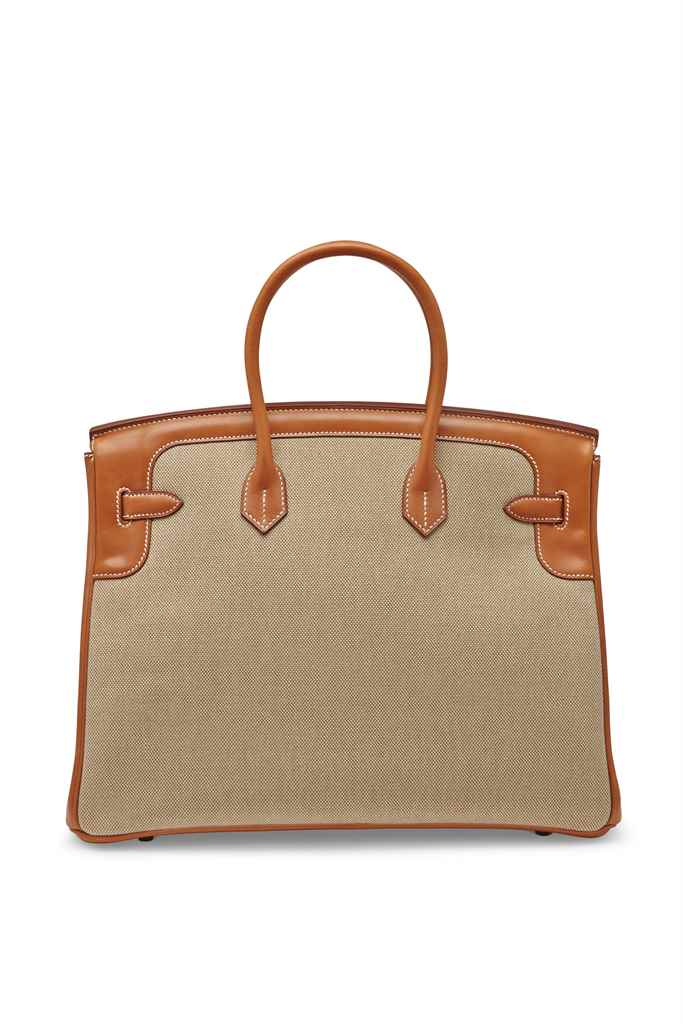 SAC BIRKIN FLAG 35 EN CUIR BAR